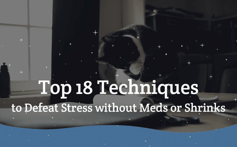 Top 18 Techniques for dealing with stress without meds or shrinks - http://globaldotmedia.com