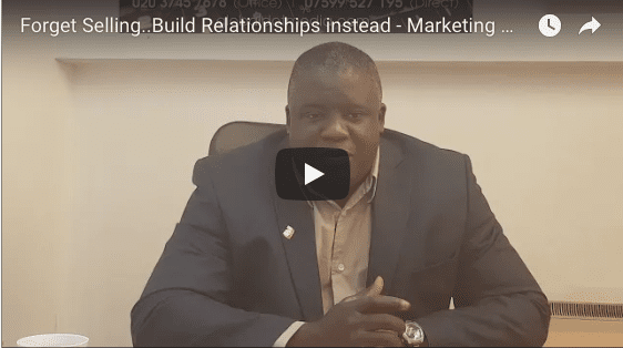 Stop Selling..Start Building Relationships Instead - Marketing Magic Tip