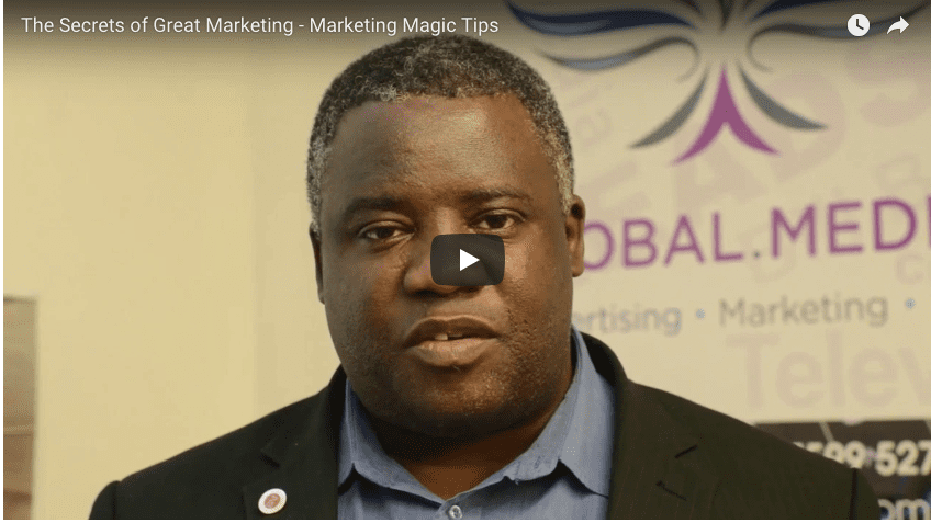 The Secrets of Great Marketing - Marketing Magic Tip http://globaldotmedia.com