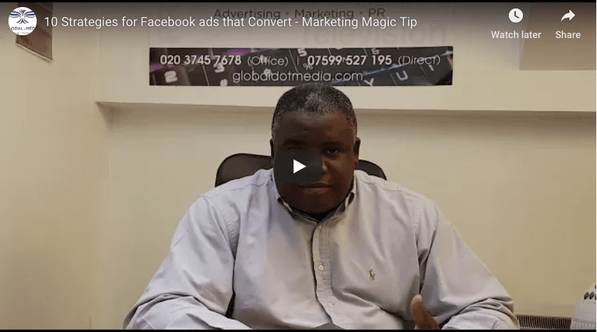 10 Strategies for Facebook ads that convert http://globaldotmedia.com