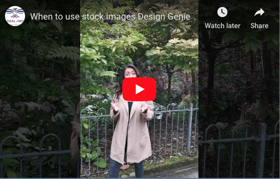When to use stock photos video image: when to use stock photos - Design Genie Tips Blog blog - https://globaldotmedia.com