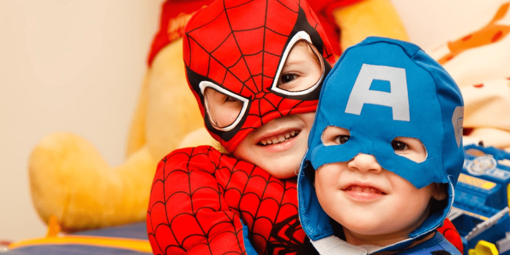 Understanding Imposter Syndrome & 7 Strategies To Deal With It Blog header photos of kids as superheroes- https://globaldotmedia.com