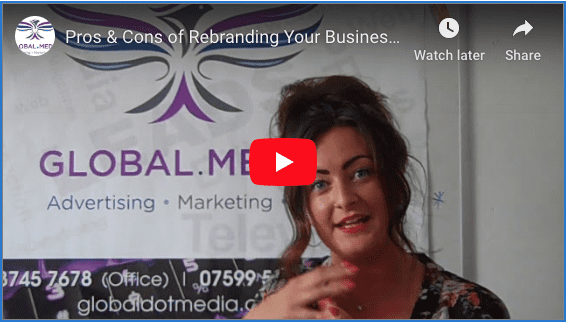 Pros & Cons of Rebranding Your Business - Design Genie Tips videoblog- https://globaldotmedia.com