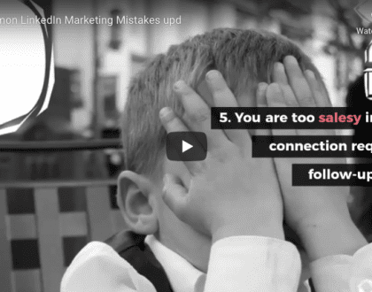 5 Common LinkedIn Marketing Mistakes and how to avoid them header photo