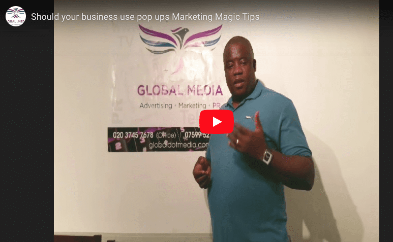Should your business use pop-ups? - Marketing Magic Tip videoblog cover photo