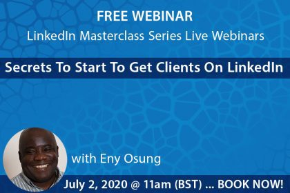 LinkedIn webinar 2nd June flyer