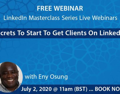 LinkedIn webinar 2nd June flyer