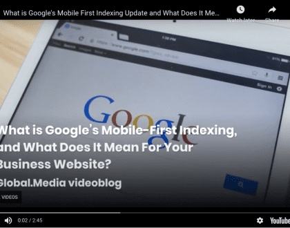 What is Google's mobile-first update and what does it mean for your business videoblog