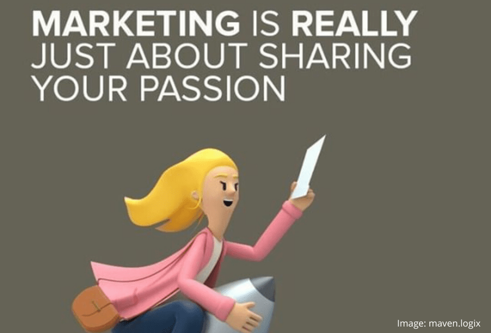 Share your passsion graphic in in What will leading marketers look like post-COVID blog