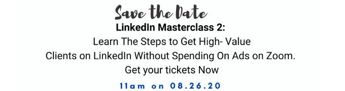LinkedIn Masterclass 2 banner