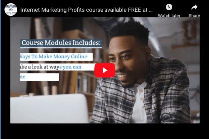 Internet Marketing Profits course video pic