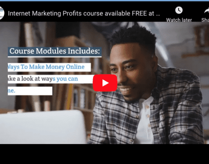Internet Marketing Profits course video pic